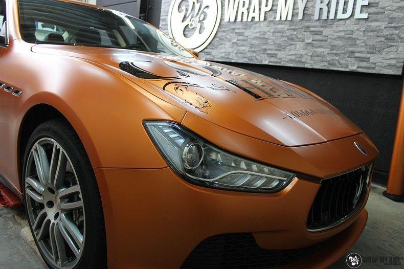 Maserati ghibli satin canyon copper, Carwrapping door Wrapmyride.nu Foto-nr:11581, ©2020