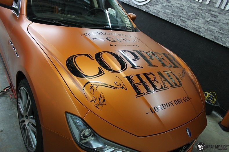 Maserati ghibli satin canyon copper, Carwrapping door Wrapmyride.nu Foto-nr:11582, ©2020