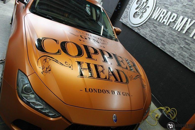 Maserati ghibli satin canyon copper, Carwrapping door Wrapmyride.nu Foto-nr:11583, ©2020