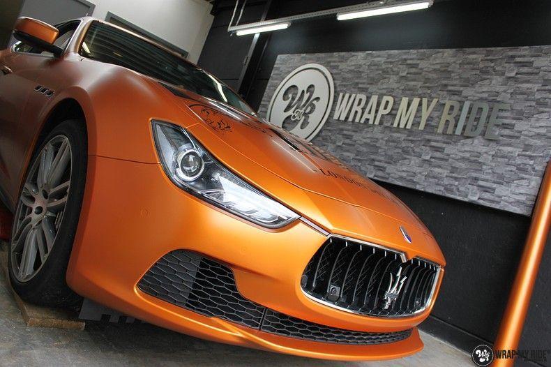 Maserati ghibli satin canyon copper, Carwrapping door Wrapmyride.nu Foto-nr:11591, ©2020