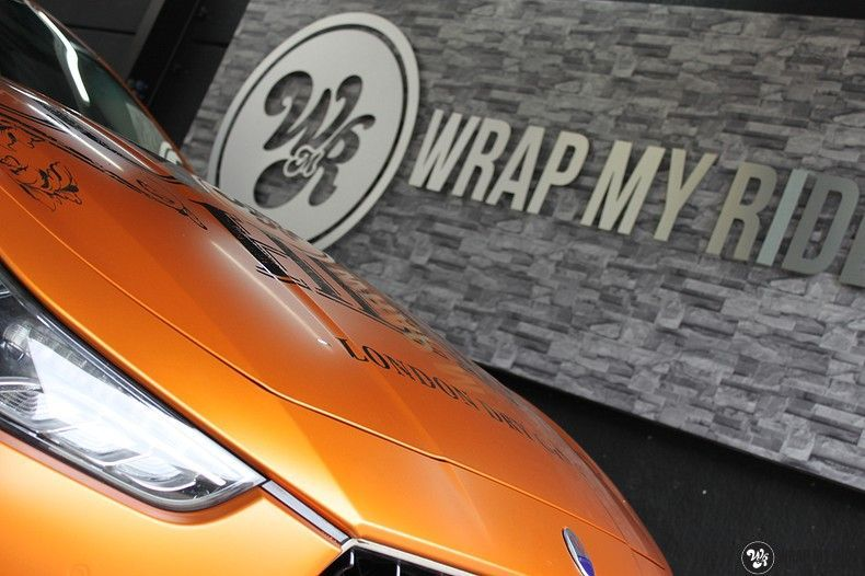 Maserati ghibli satin canyon copper, Carwrapping door Wrapmyride.nu Foto-nr:11592, ©2020