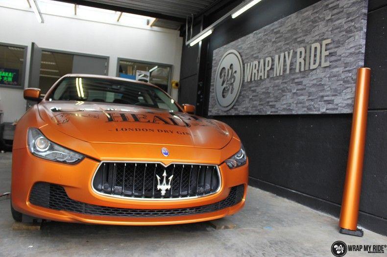 Maserati ghibli satin canyon copper, Carwrapping door Wrapmyride.nu Foto-nr:11593, ©2020
