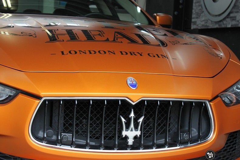 Maserati ghibli satin canyon copper, Carwrapping door Wrapmyride.nu Foto-nr:11594, ©2020
