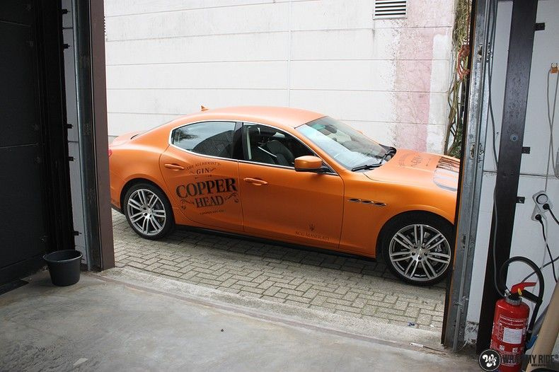 Maserati ghibli satin canyon copper, Carwrapping door Wrapmyride.nu Foto-nr:11595, ©2020