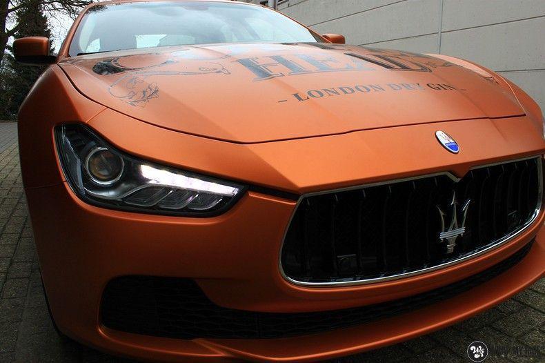 Maserati ghibli satin canyon copper, Carwrapping door Wrapmyride.nu Foto-nr:11603, ©2020