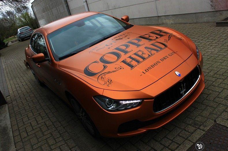Maserati ghibli satin canyon copper, Carwrapping door Wrapmyride.nu Foto-nr:11604, ©2020