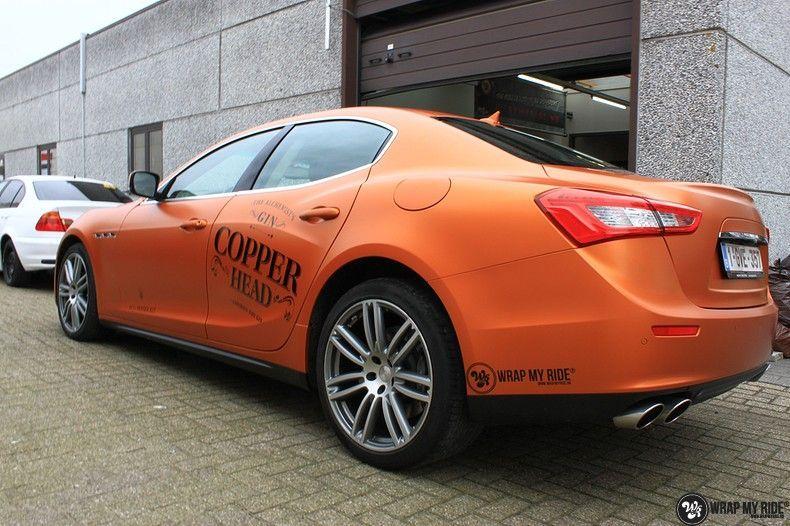 Maserati ghibli satin canyon copper, Carwrapping door Wrapmyride.nu Foto-nr:11605, ©2020