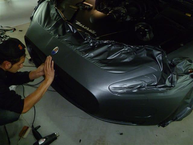 Maserati Gran Turismo met Mat Zwarte Wrap, Carwrapping door Wrapmyride.nu Foto-nr:6047, ©2020
