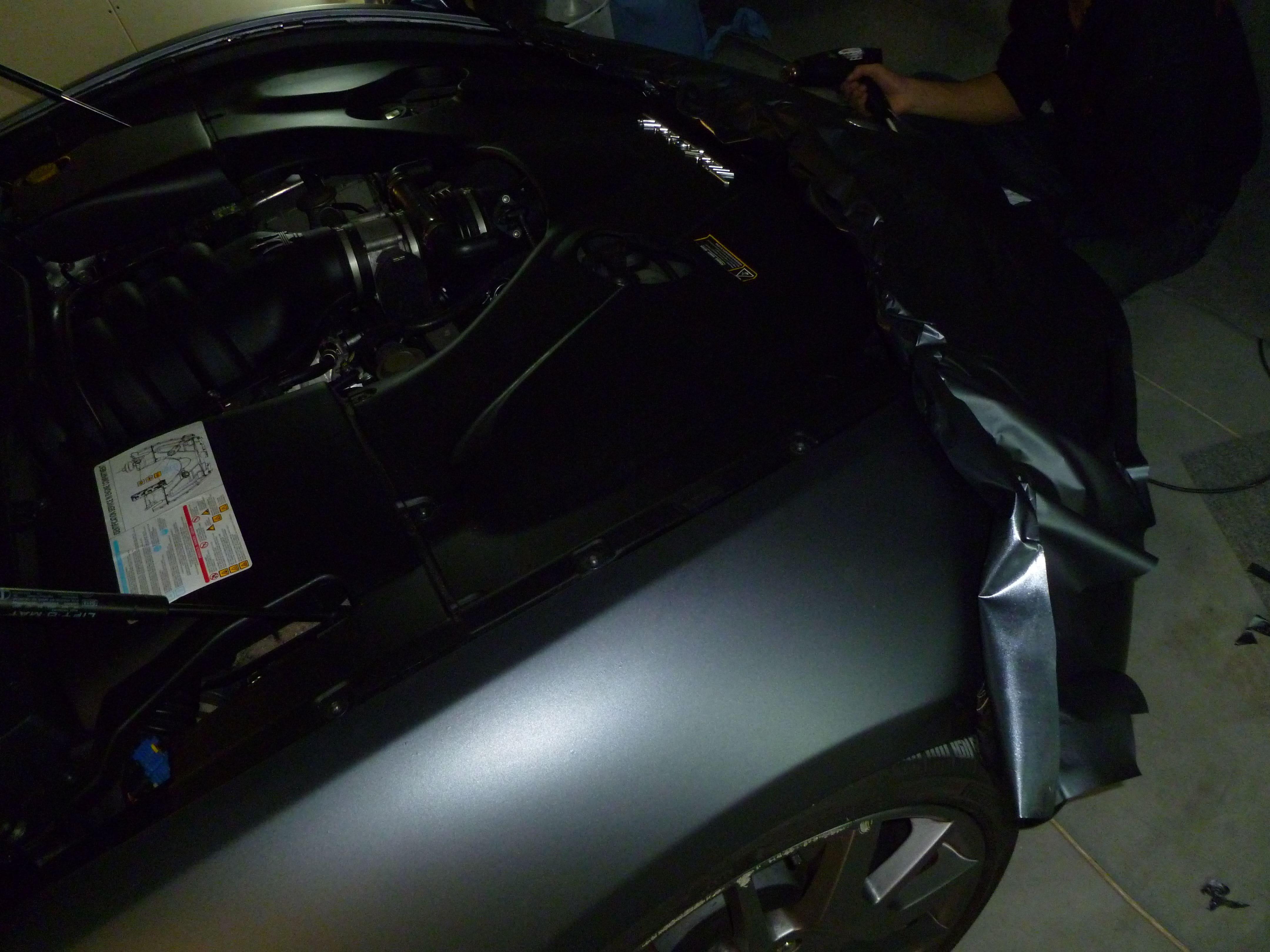 Maserati Gran Turismo met Mat Zwarte Wrap, Carwrapping door Wrapmyride.nu Foto-nr:6049, ©2020