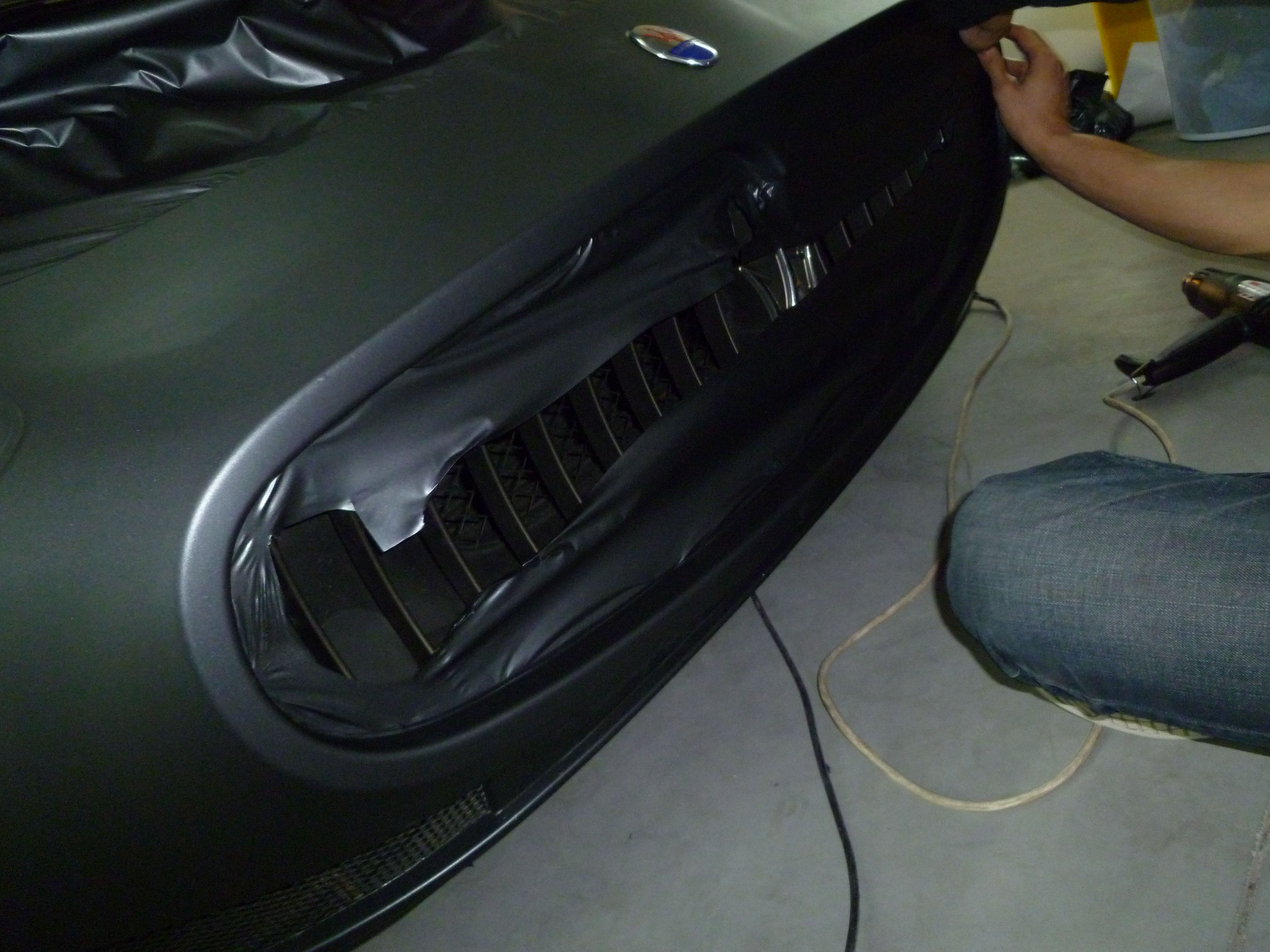 Maserati Gran Turismo met Mat Zwarte Wrap, Carwrapping door Wrapmyride.nu Foto-nr:6051, ©2020