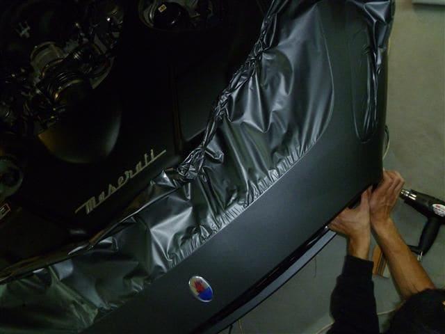Maserati Gran Turismo met Mat Zwarte Wrap, Carwrapping door Wrapmyride.nu Foto-nr:6052, ©2020