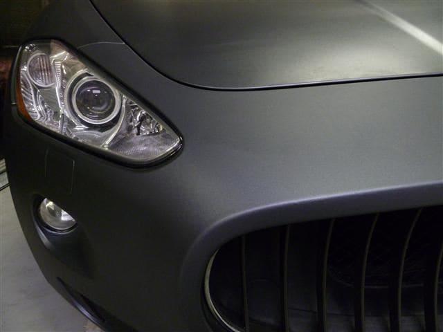 Maserati Gran Turismo met Mat Zwarte Wrap, Carwrapping door Wrapmyride.nu Foto-nr:6062, ©2020