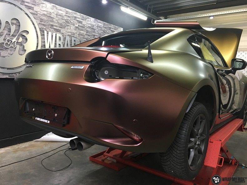Mazda MX-5 Satin Vulcanic Flip, Carwrapping door Wrapmyride.nu Foto-nr:11093, ©2018