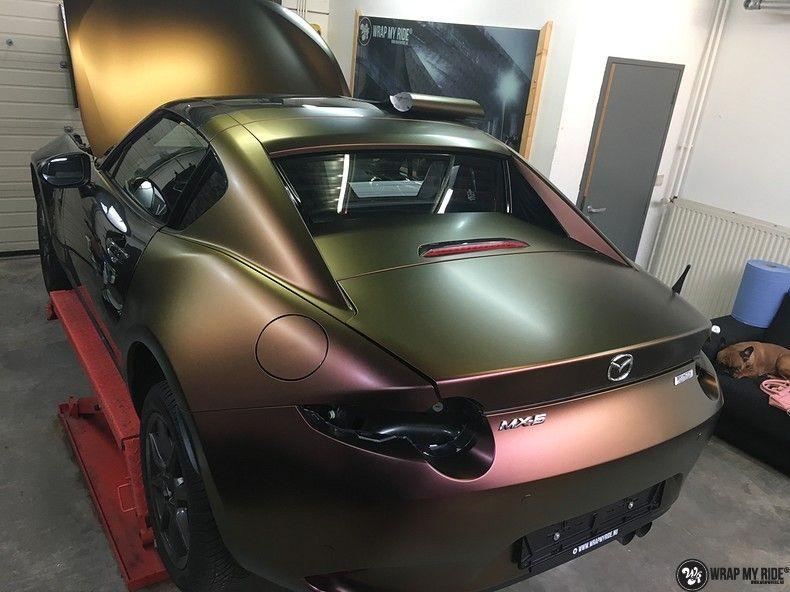 Mazda MX-5 Satin Vulcanic Flip, Carwrapping door Wrapmyride.nu Foto-nr:11095, ©2018