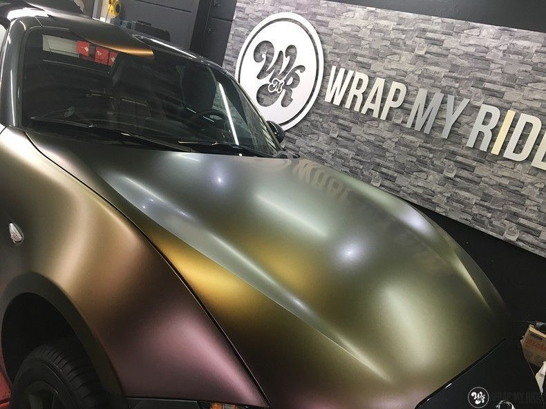 Mazda MX-5 Satin Vulcanic Flip, Carwrapping door Wrapmyride.nu Foto-nr:11092, ©2020