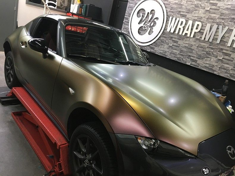 Mazda MX-5 Satin Vulcanic Flip, Carwrapping door Wrapmyride.nu Foto-nr:11103, ©2018