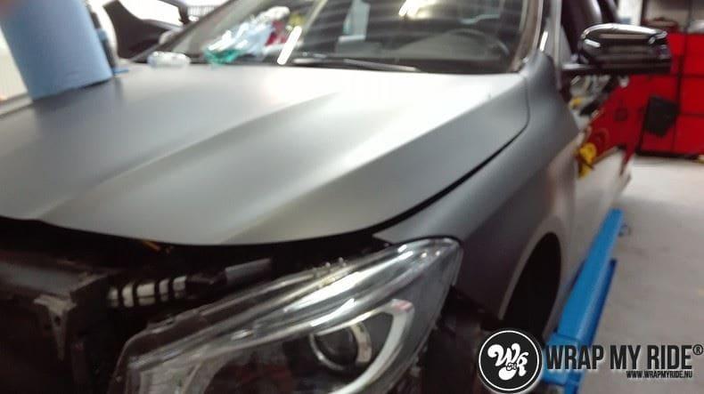 MB CLA mat zwart, Carwrapping door Wrapmyride.nu Foto-nr:8050, ©2020