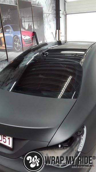MB CLA mat zwart, Carwrapping door Wrapmyride.nu Foto-nr:8052, ©2020
