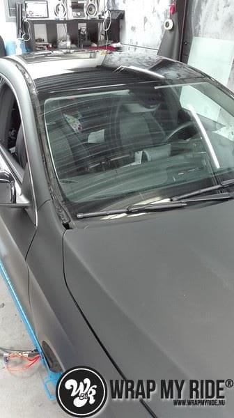 MB CLA mat zwart, Carwrapping door Wrapmyride.nu Foto-nr:8053, ©2020