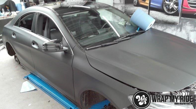 MB CLA mat zwart, Carwrapping door Wrapmyride.nu Foto-nr:8054, ©2020