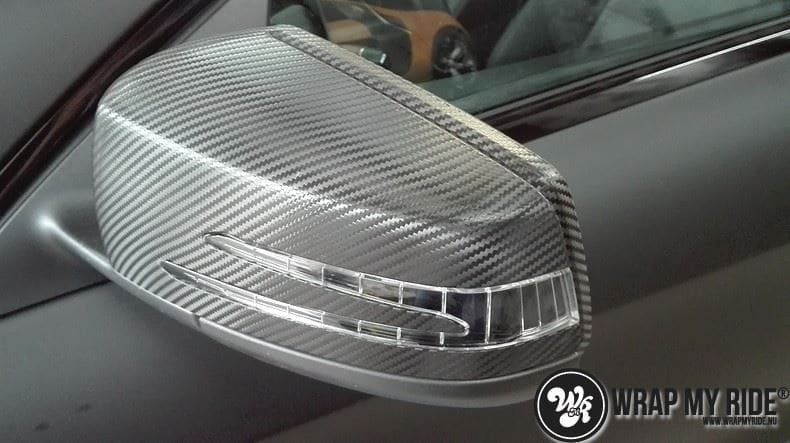 MB CLA mat zwart, Carwrapping door Wrapmyride.nu Foto-nr:8061, ©2020