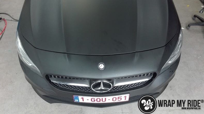 MB CLA mat zwart, Carwrapping door Wrapmyride.nu Foto-nr:8064, ©2020
