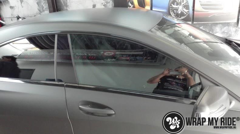 MB CLA mat zwart, Carwrapping door Wrapmyride.nu Foto-nr:8071, ©2020