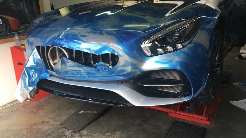 Mercedes AMG GTC roadster full colour Fortnite, Carwrapping door Wrapmyride.nu Foto-nr:12050, ©2019