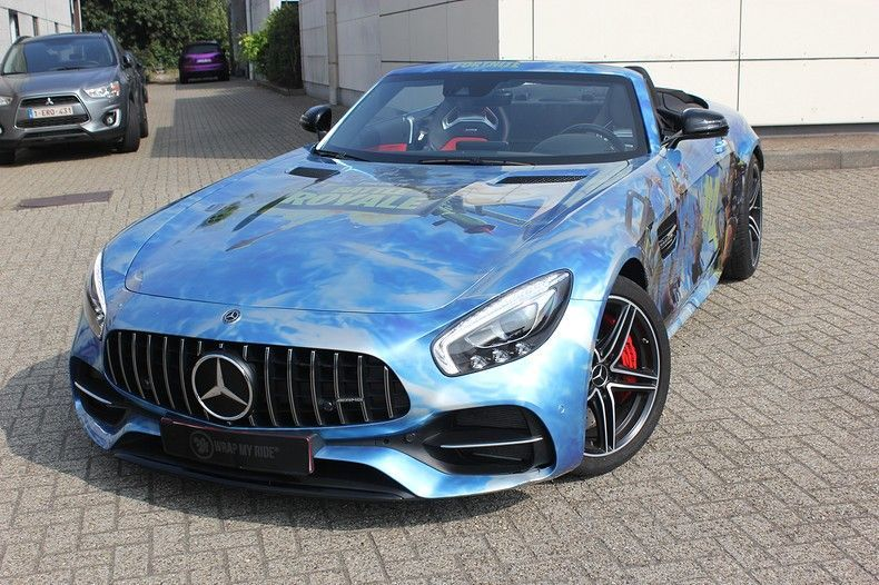 Mercedes AMG GTC roadster full colour Fortnite, Carwrapping door Wrapmyride.nu Foto-nr:12018, ©2019