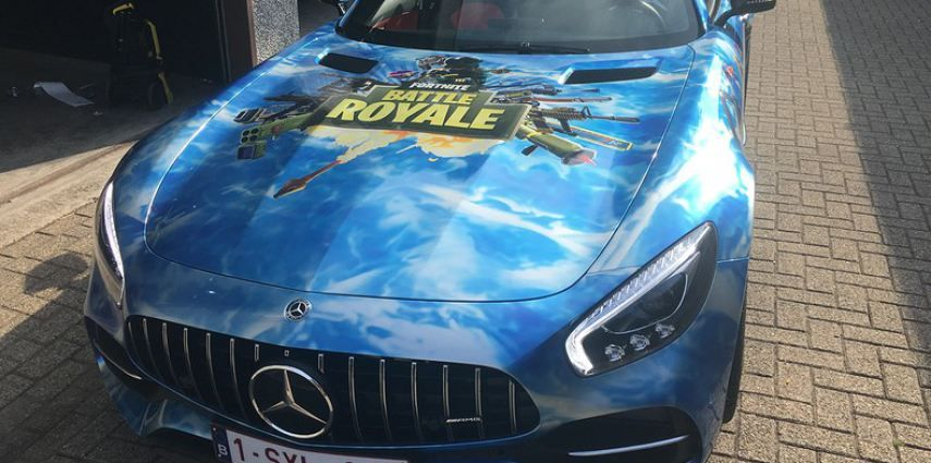 Mercedes AMG GTC roadster full colour Fortnite