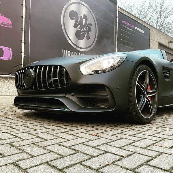 Mercedes AMG GTC Roadster Matt Deep Black, Carwrapping door Wrapmyride.nu Foto-nr:12550, ©2019