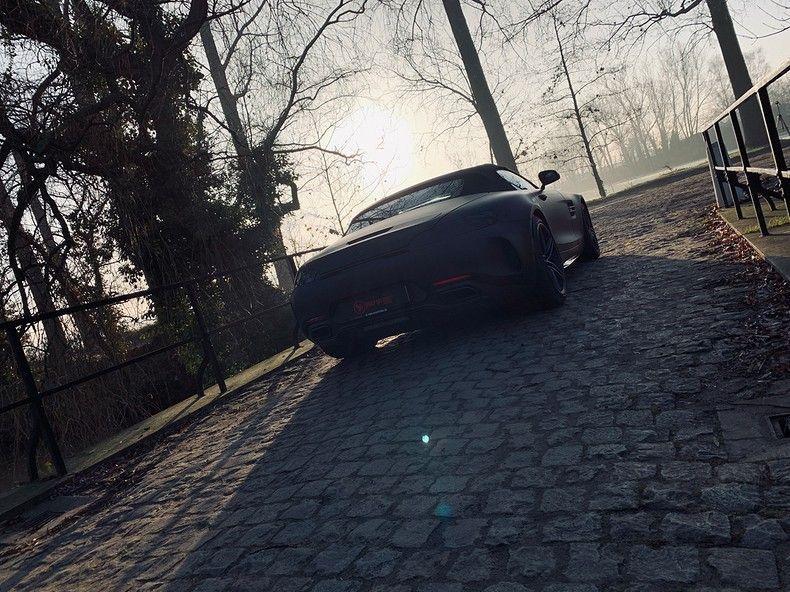 Mercedes AMG GTC Roadster Matt Deep Black, Carwrapping door Wrapmyride.nu Foto-nr:12536, ©2019