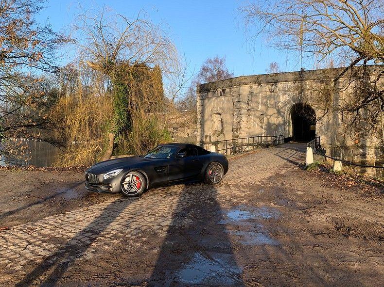 Mercedes AMG GTC Roadster Matt Deep Black, Carwrapping door Wrapmyride.nu Foto-nr:12535, ©2019