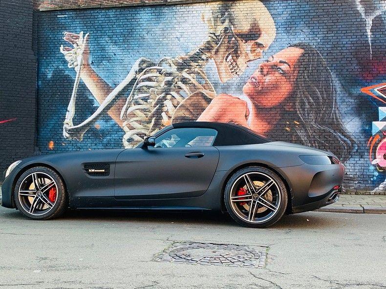 Mercedes AMG GTC Roadster Matt Deep Black, Carwrapping door Wrapmyride.nu Foto-nr:12526, ©2019
