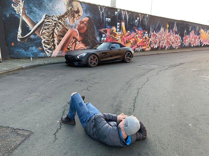 Mercedes AMG GTC Roadster Matt Deep Black, Carwrapping door Wrapmyride.nu Foto-nr:12518, ©2019