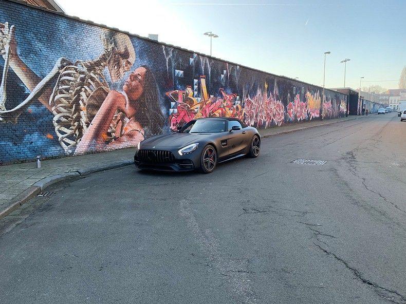 Mercedes AMG GTC Roadster Matt Deep Black, Carwrapping door Wrapmyride.nu Foto-nr:12516, ©2019