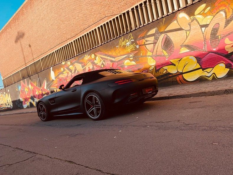 Mercedes AMG GTC Roadster Matt Deep Black, Carwrapping door Wrapmyride.nu Foto-nr:12512, ©2019