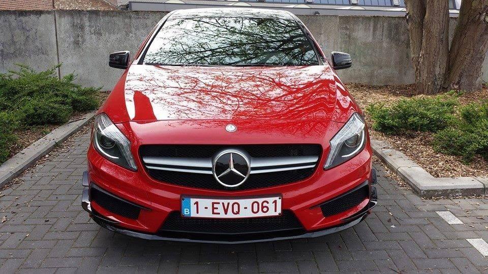 Mercedes AMG met Hoogglans Rode Wrap en Zwarte Accenten, Carwrapping door Wrapmyride.nu Foto-nr:6078, ©2020