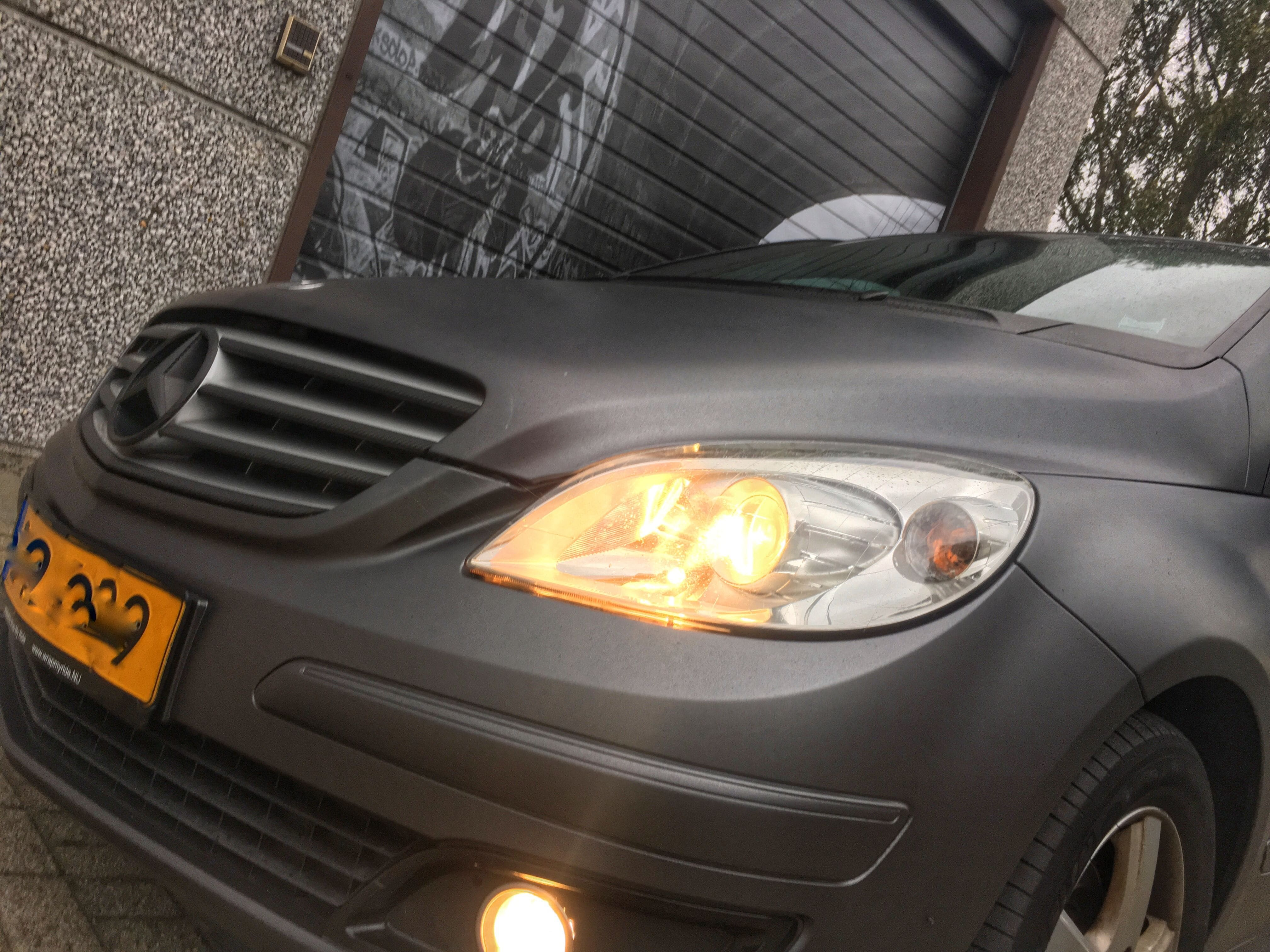 Mercedes B-klasse matte dark grey, Carwrapping door Wrapmyride.nu Foto-nr:9293, ©2021