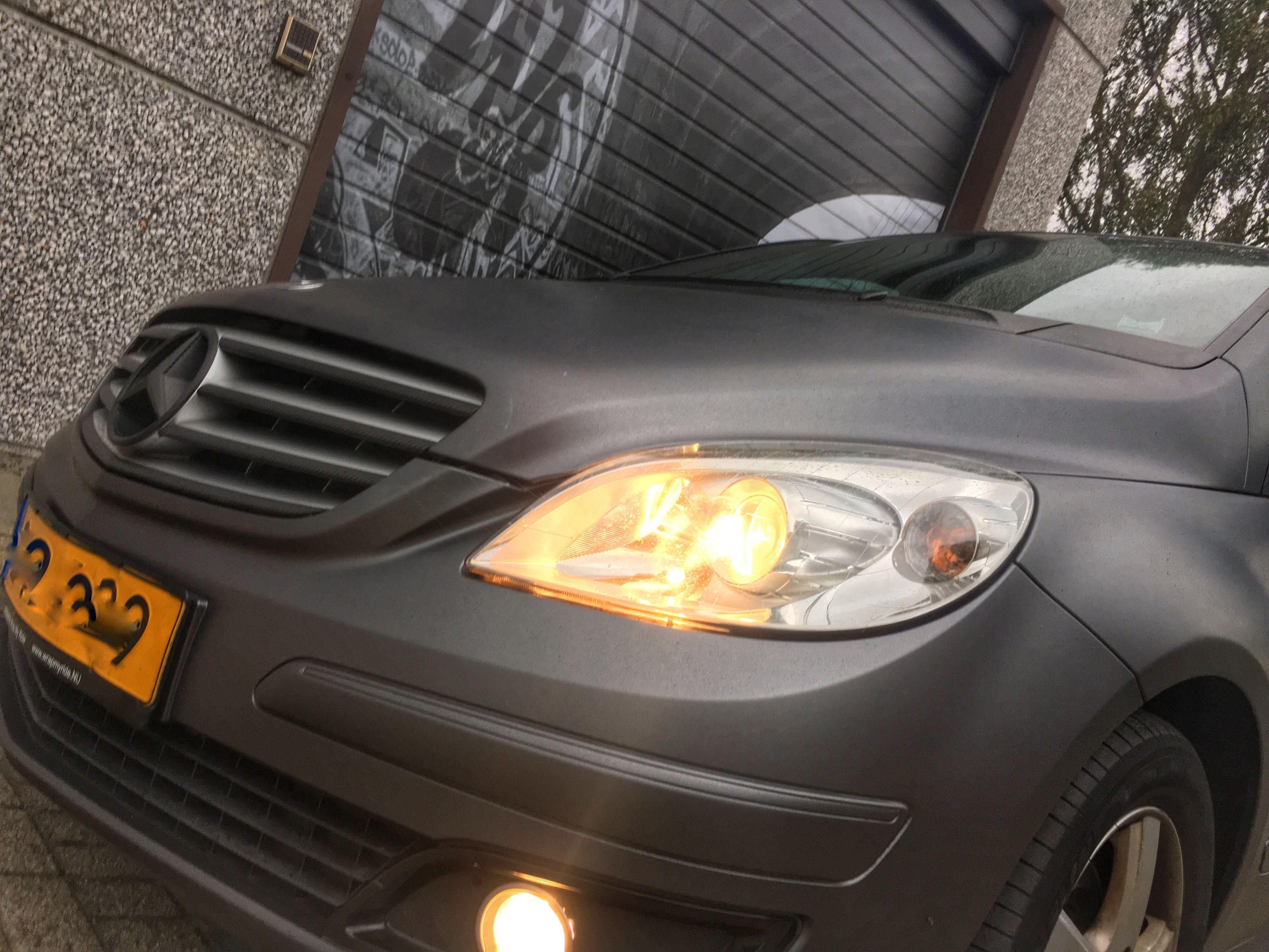 Mercedes B-klasse matte dark grey, Carwrapping door Wrapmyride.nu Foto-nr:9293, ©2020