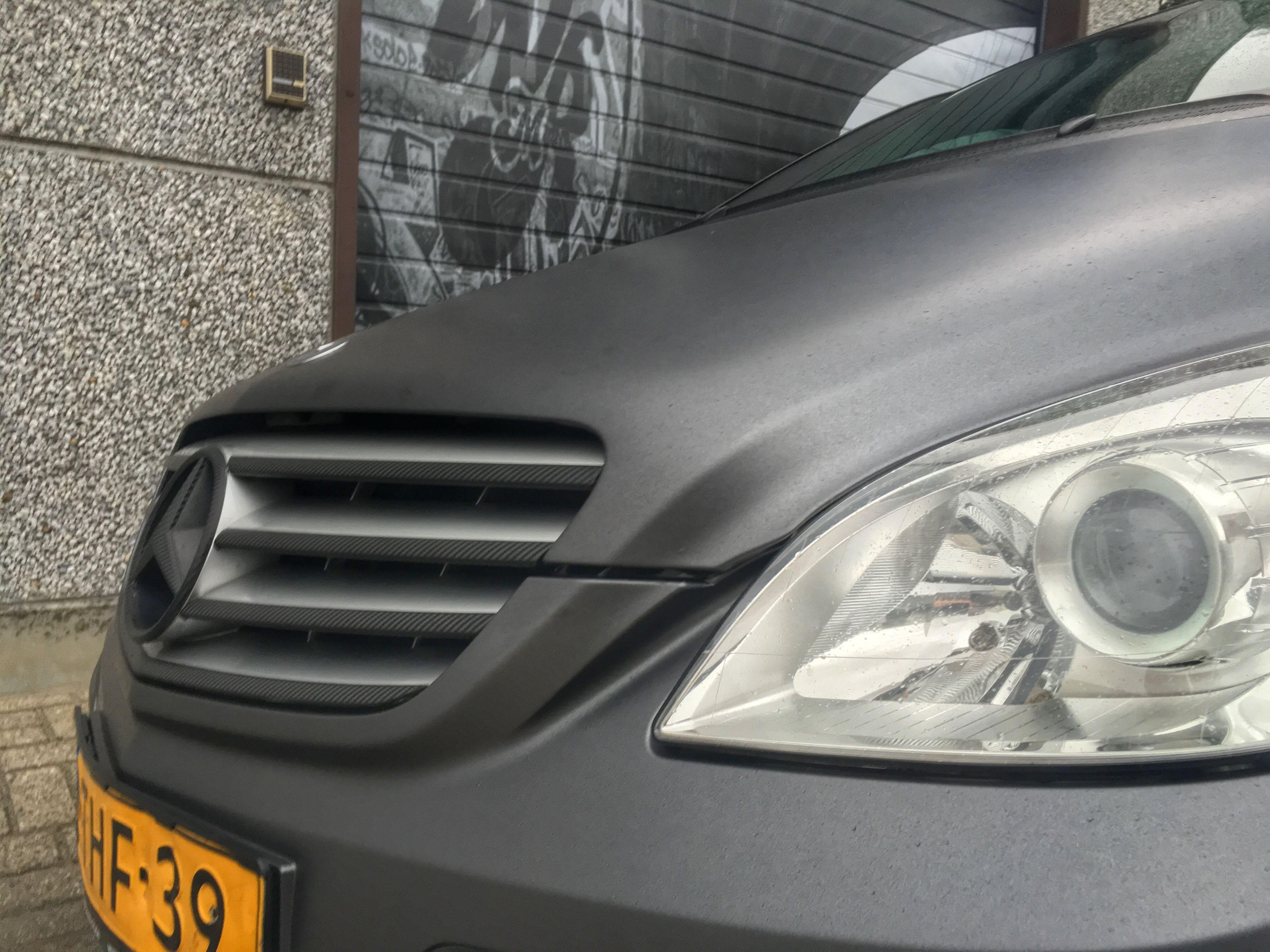 Mercedes B-klasse matte dark grey, Carwrapping door Wrapmyride.nu Foto-nr:9292, ©2020