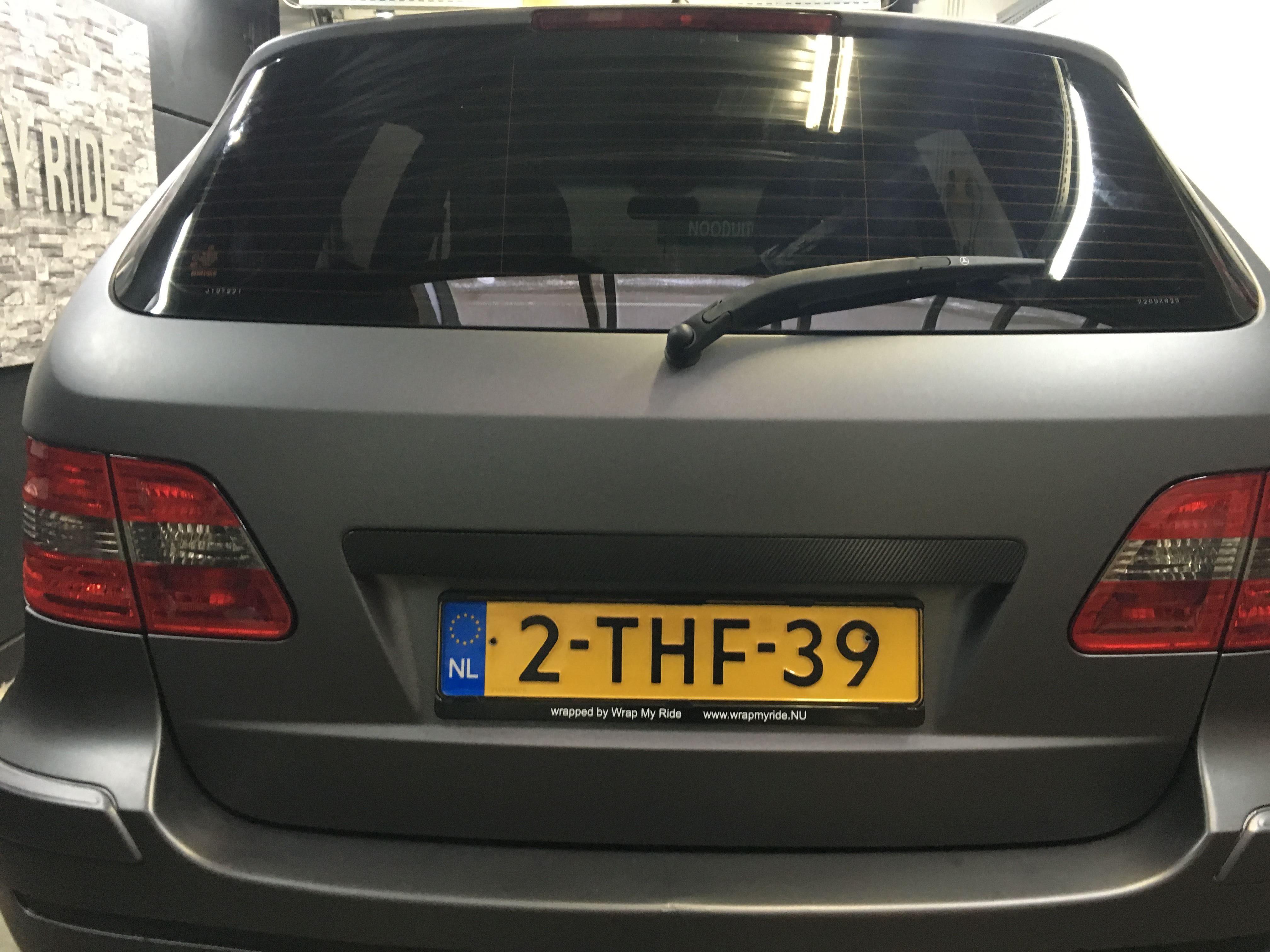 Mercedes B-klasse matte dark grey, Carwrapping door Wrapmyride.nu Foto-nr:9298, ©2020