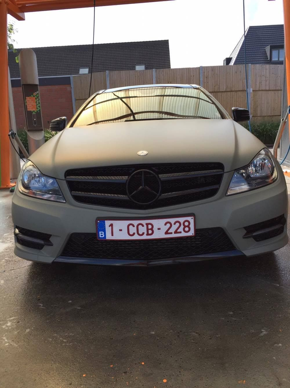 Mercedes C-Coupe matte khaki green, Carwrapping door Wrapmyride.nu Foto-nr:9166, ©2021