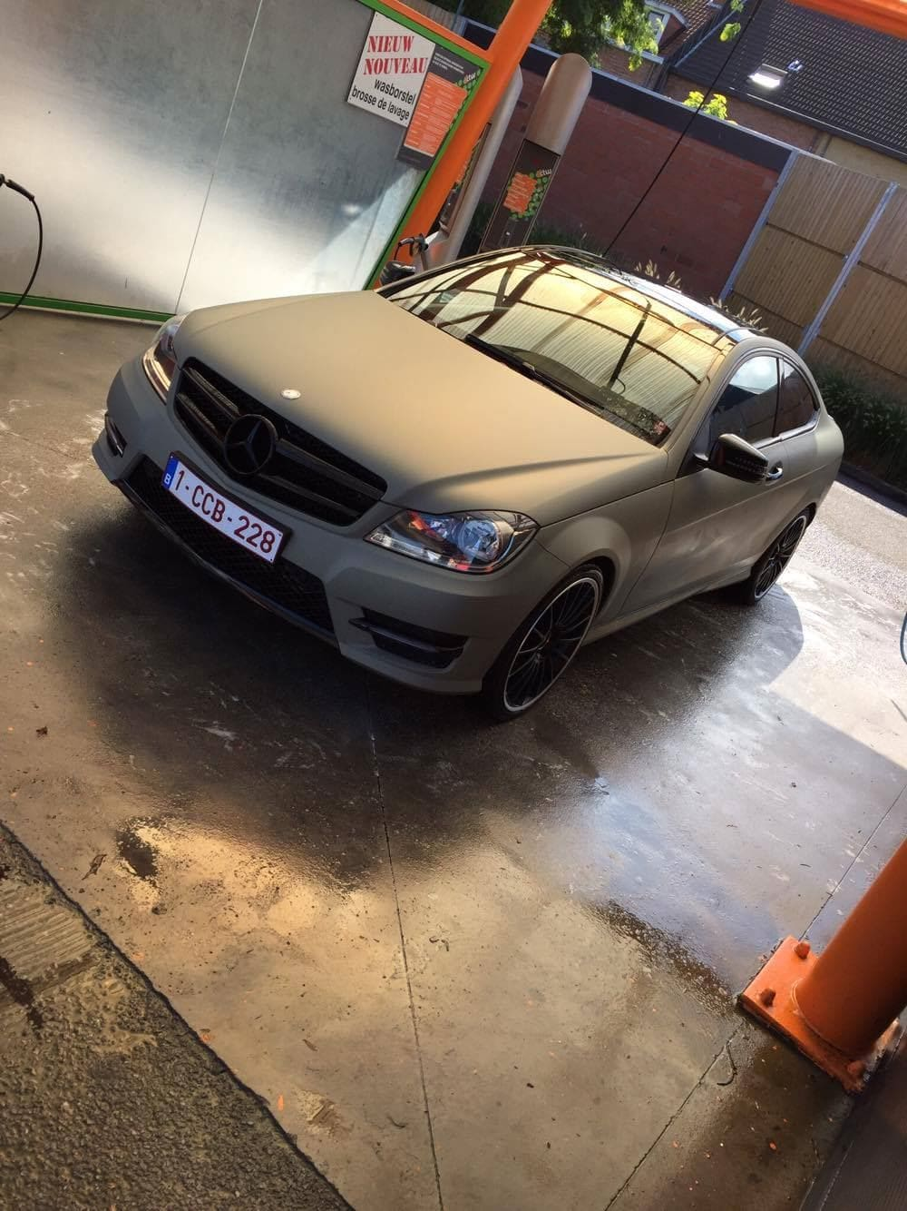 Mercedes C-Coupe matte khaki green, Carwrapping door Wrapmyride.nu Foto-nr:9162, ©2021