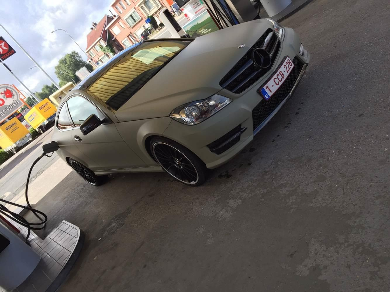 Mercedes C-Coupe matte khaki green, Carwrapping door Wrapmyride.nu Foto-nr:9164, ©2021