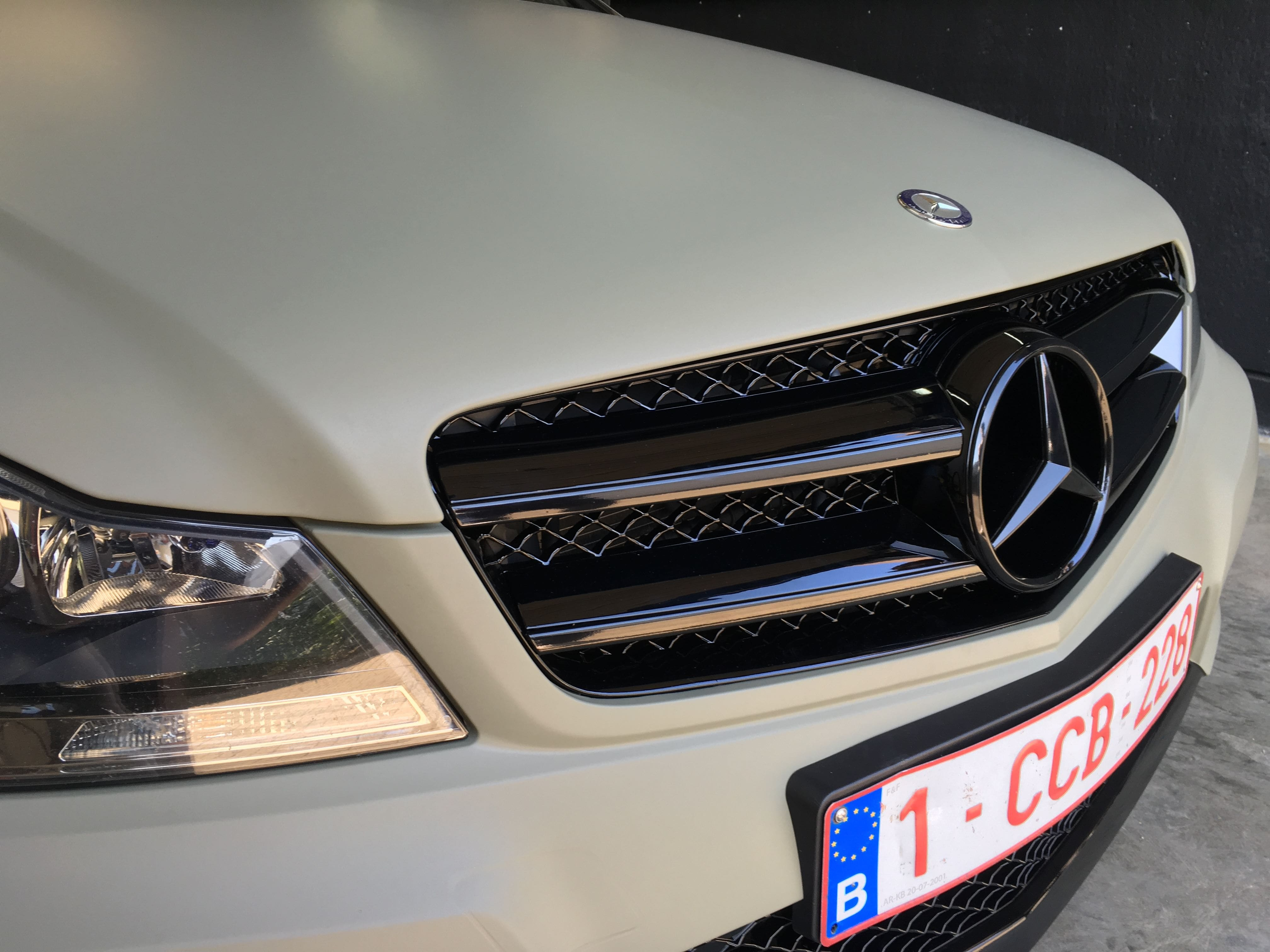 Mercedes C-Coupe matte khaki green, Carwrapping door Wrapmyride.nu Foto-nr:9175, ©2021