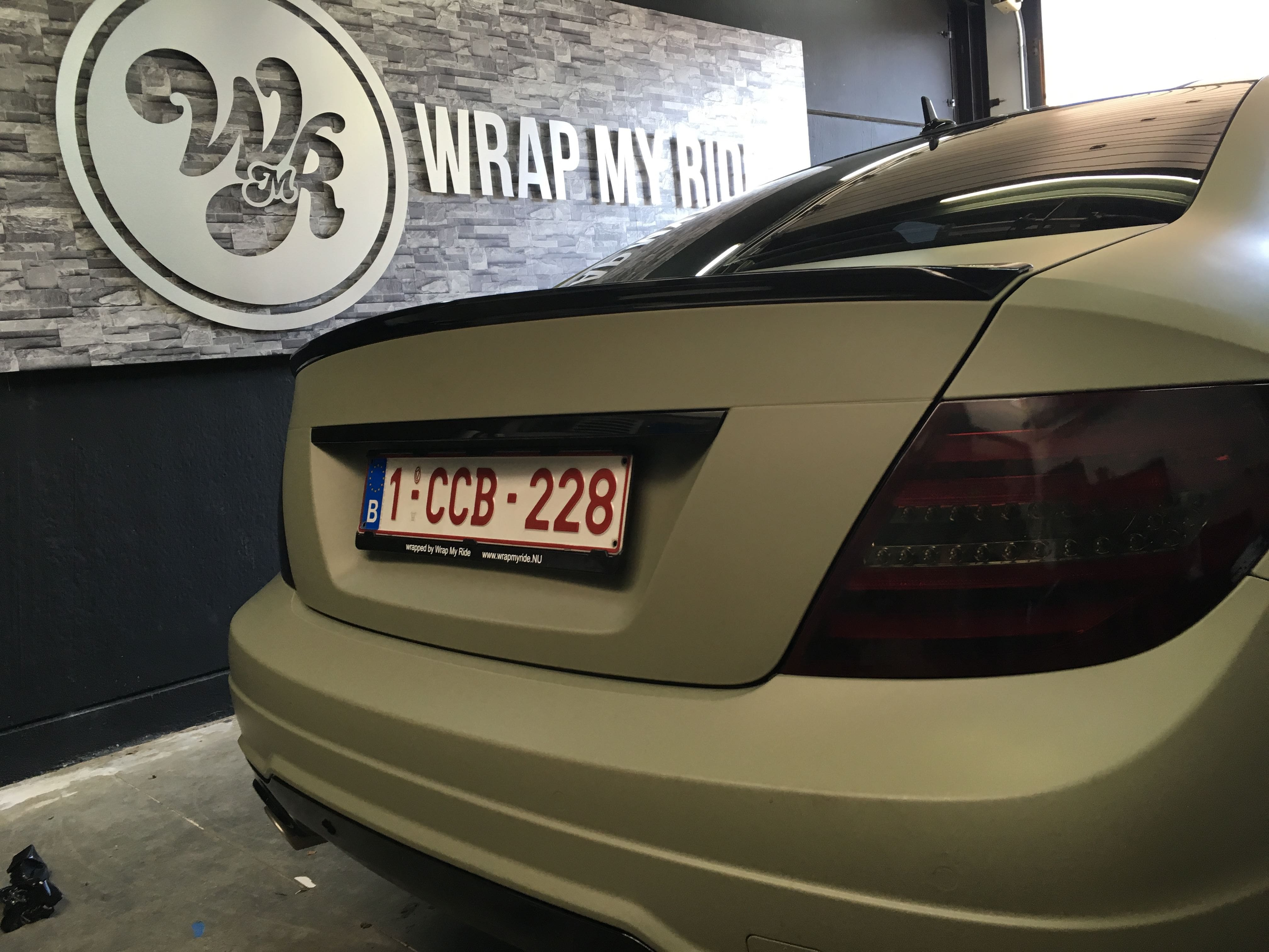 Mercedes C-Coupe matte khaki green, Carwrapping door Wrapmyride.nu Foto-nr:9173, ©2021