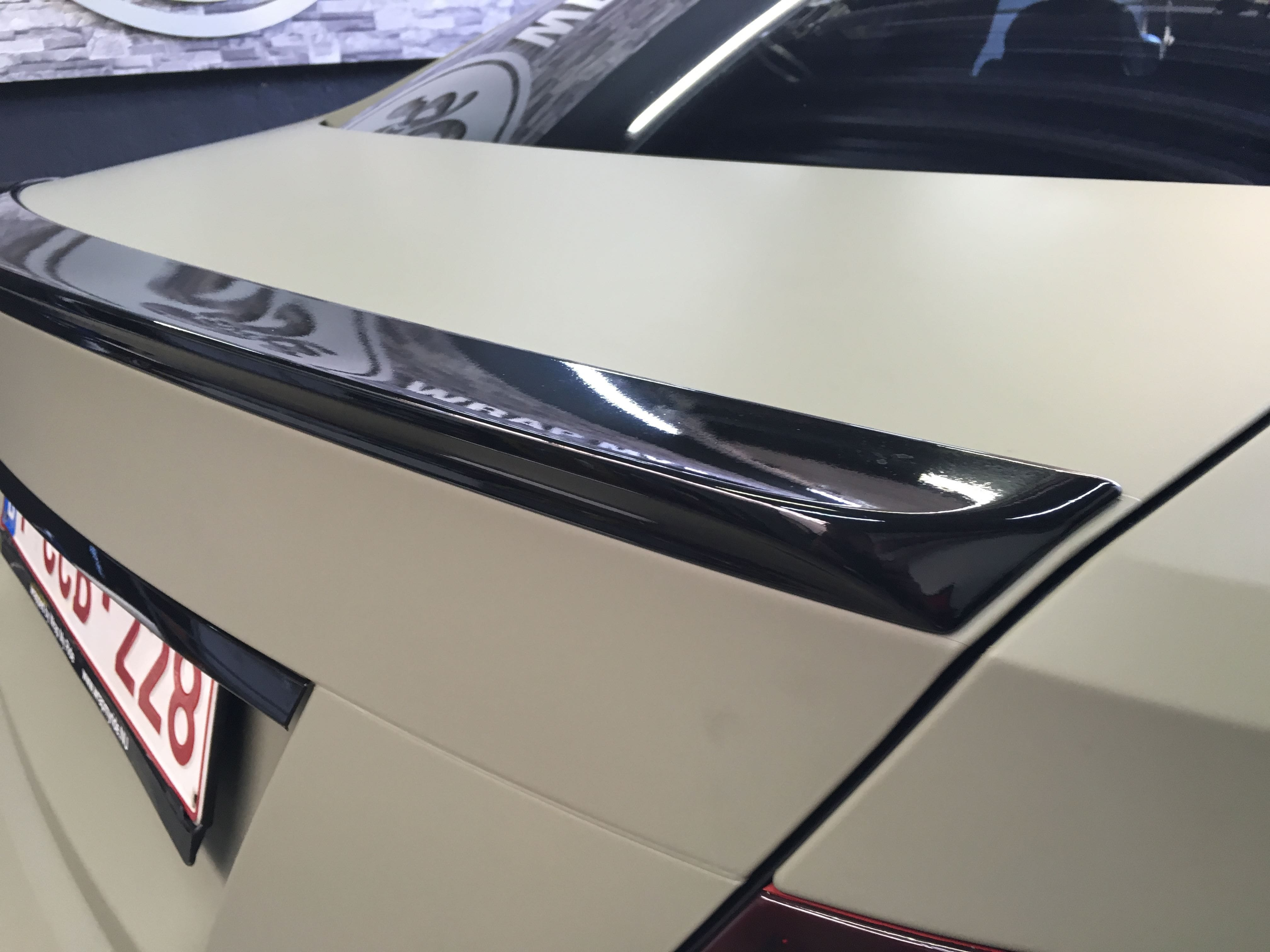 Mercedes C-Coupe matte khaki green, Carwrapping door Wrapmyride.nu Foto-nr:9172, ©2021