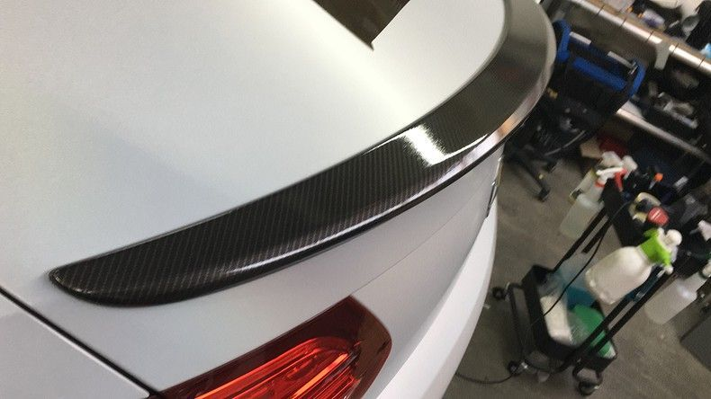 Mercedes C-coupe Satin ghost flip, Carwrapping door Wrapmyride.nu Foto-nr:11862, ©2021