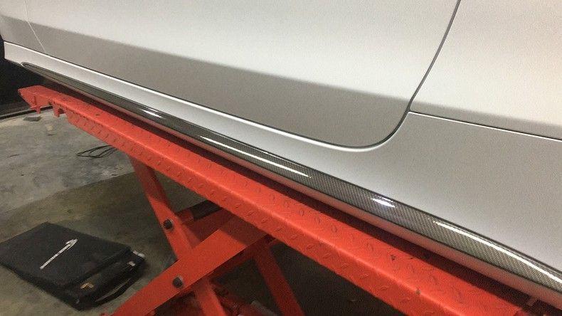 Mercedes C-coupe Satin ghost flip, Carwrapping door Wrapmyride.nu Foto-nr:11894, ©2021
